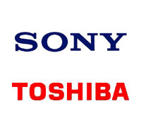 Toshiba and Sony shake hands