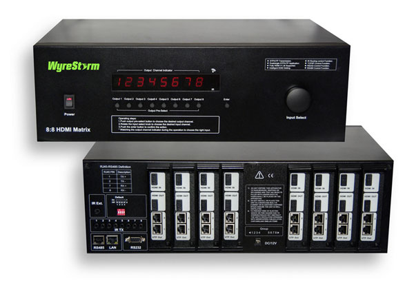 WyreStorm 8×8 HDMI switcher available this month