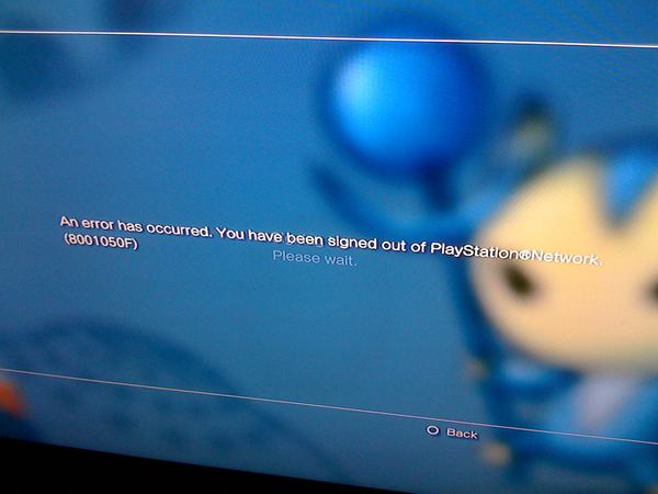 Worldwide reports of PSN errors