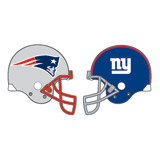 patriots vs giants helmets