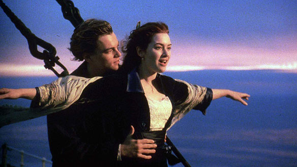 titanic leonardo kate winslett top of the world