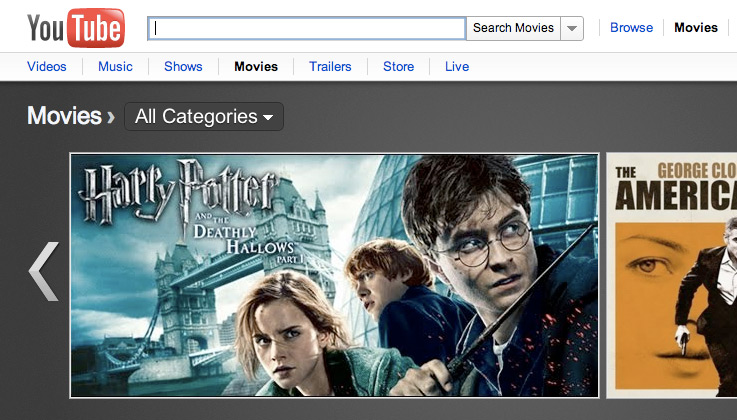 YouTube launches movie rentals – but no HD?