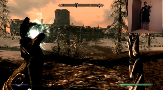 Using Kinect to control Skyrim