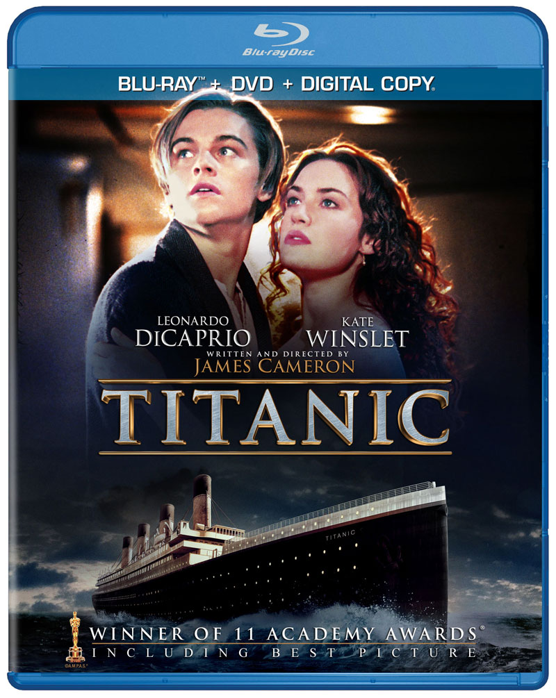 Titanic Official Blu Ray 2d Dvd Cover Art Hd Report