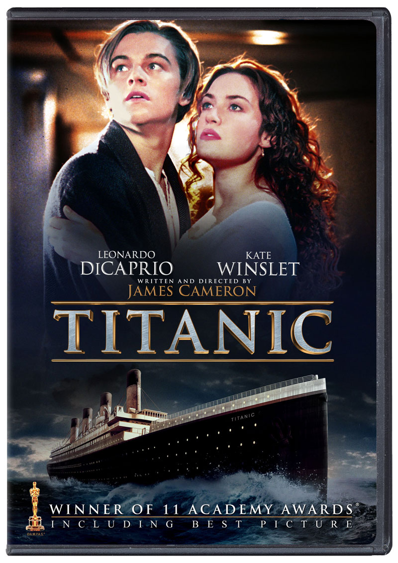 'Titanic' official Blu-ray 2D & DVD cover art | HD Report