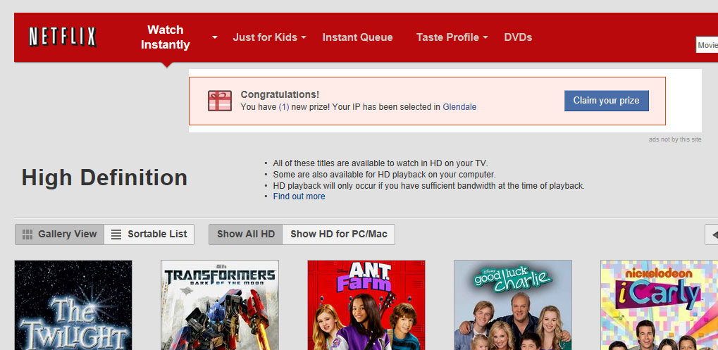 Netflix corrupted by spammy banner ads [Update]