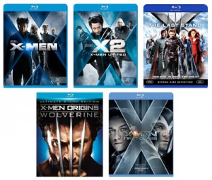 XMen: The Complete-Collection - 5 Blu-ray discs