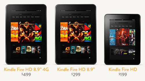 Amazon reveals Kindle Fire HD