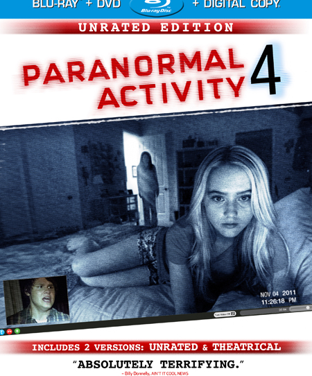'Paranormal Activity 4' Blu-ray release date announced