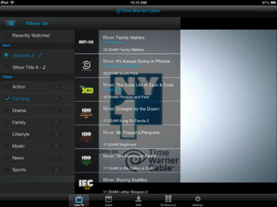 Updated TWC TV app takes iOS devices out of home