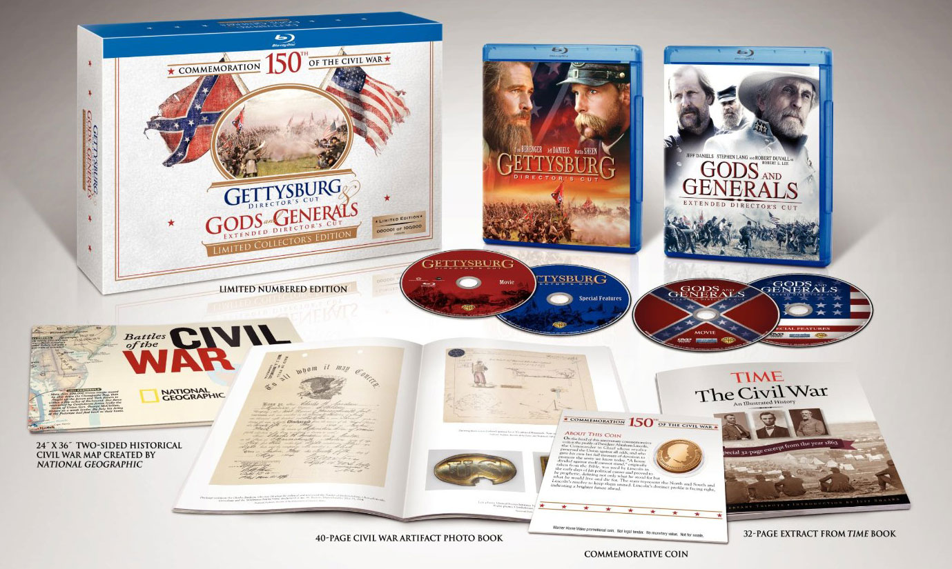 Gettysburg-Gods-and-Generals-Limited-Collectors-Edition-Blu-ray-open