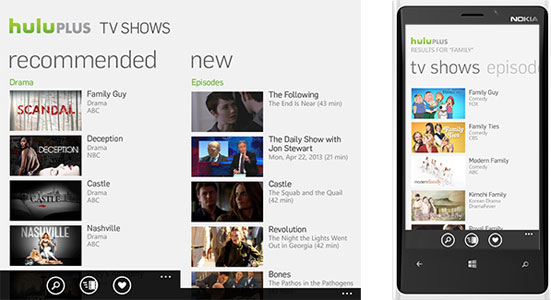 Hulu Plus app now available on Windows Phone 8