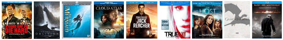 Popular Blu-ray Discs at Amazon