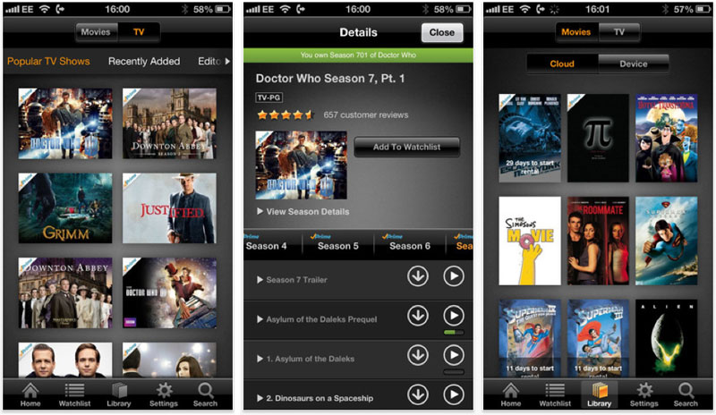 Amazon updates iOS Instant Video app