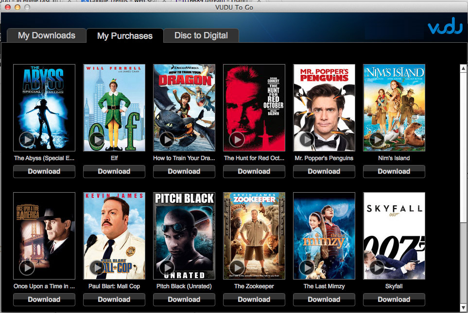 where does vudu download movies