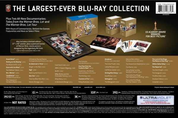Warner Bros. Fifty 50 Collection box back