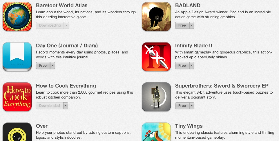 free apps at iTunes