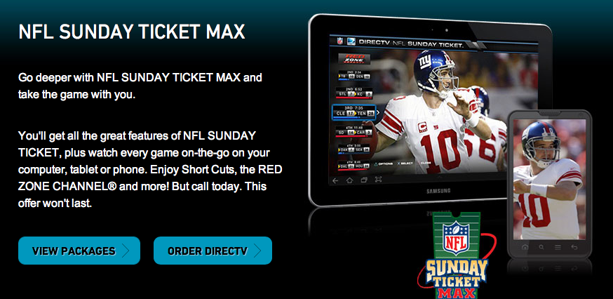 What is the difference between NFL SUNDAY TICKET and NFL SUNDAY TICKET MAX? NFL SUNDAY TICKET MAX allows mobile devices access to live coverage (regular NFLST does not). It also adds RED ZONE CHANNEL and DIRECTV FANTASY ZONE. Are Comcast and Xfinity the same thing? Comcast brands its TV, internet, and other telecommunication services as Xfinity.