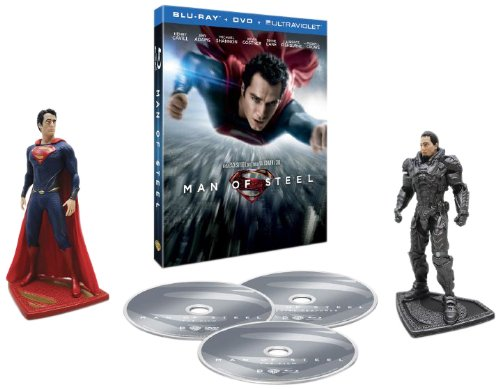 Man of Steel Collectors Edition Figurines Blu-ray