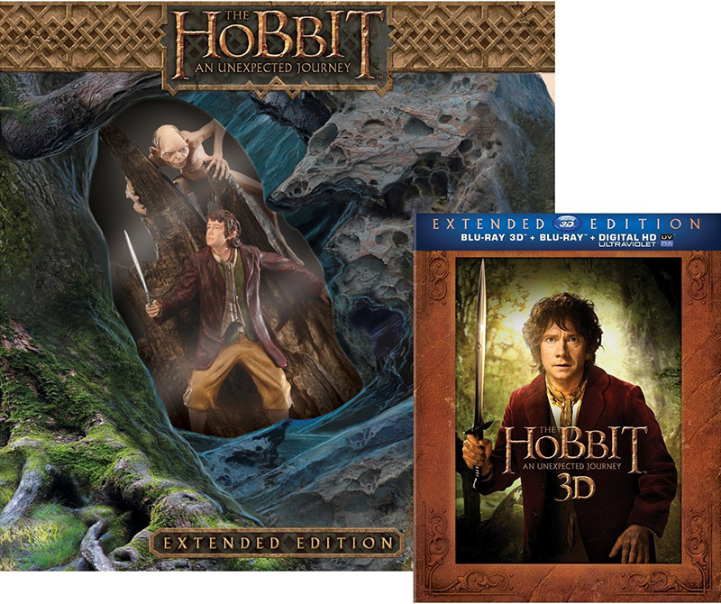 The Hobbit An Unexpected Journey Extended Edition with Limited Edition Amazon Exclusive Bilbo Gollum Statue