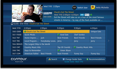 cox contour tv hands on review hd report rh hd report com Cox Cable Channels San Diego cox cable box user manual
