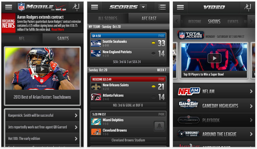 NFL Mobile app updated for Apple iOS and Android - HD Report