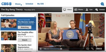 Streaming CBS TV Shows now viewable on Android and Windows 8