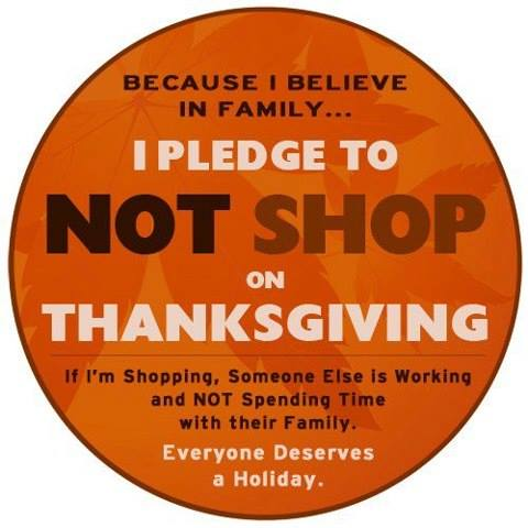 no thanksgiving shopping