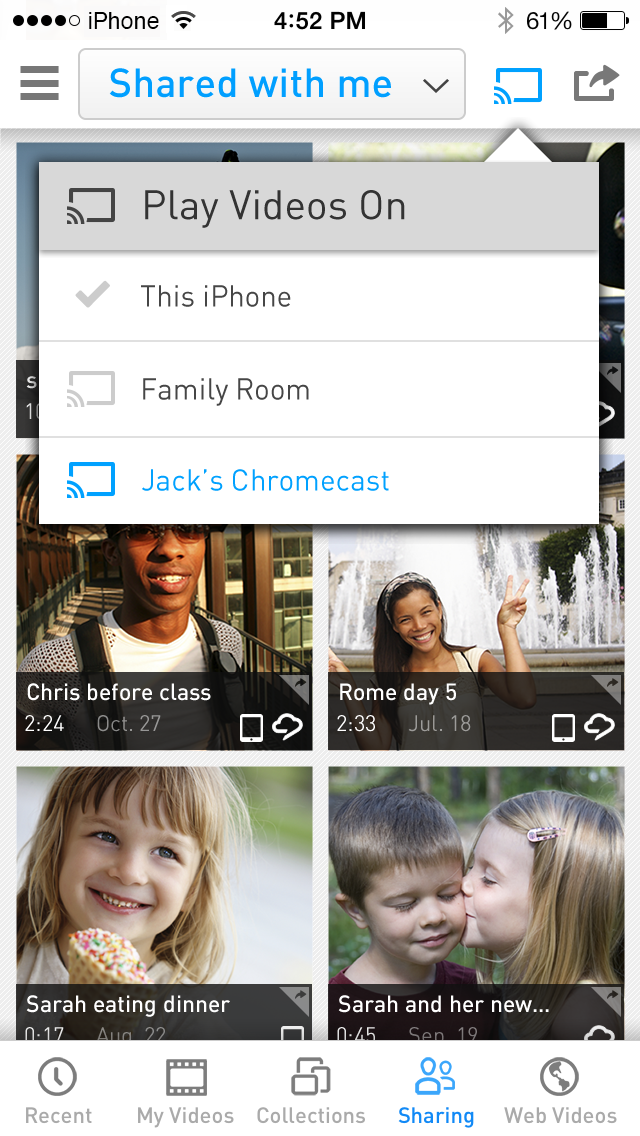 RealPlayer Cloud app now casting to Chromecast
