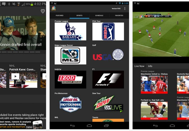 NBC-Sports-Live-Extra-app-Android-screens