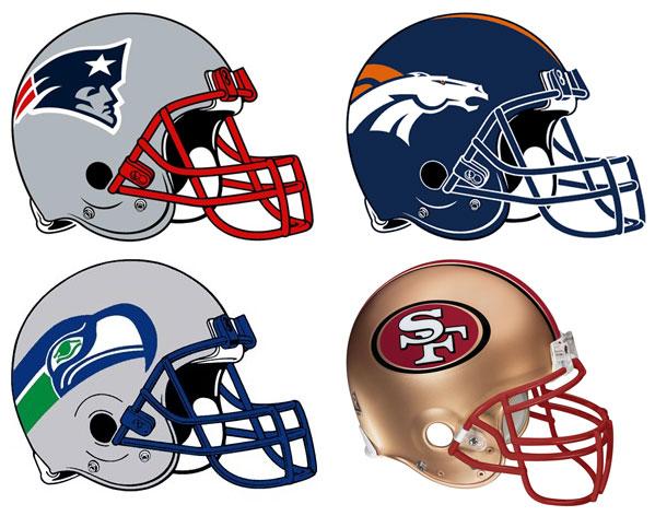 All NFL Team Helmet 2014