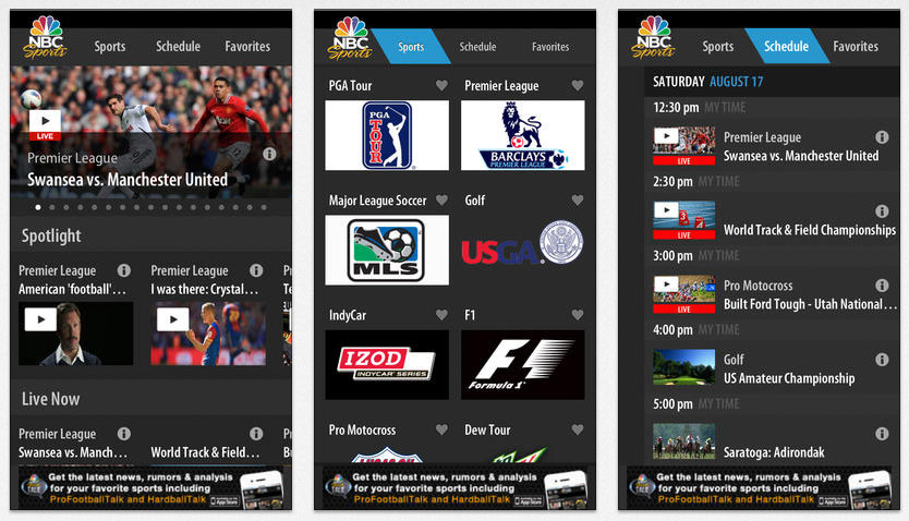 Nbc Sports Live Extra App Updated For Apple Ios Devices Hd Report