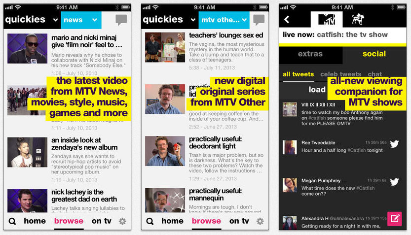 MTV app updated for iPhones & iPads
