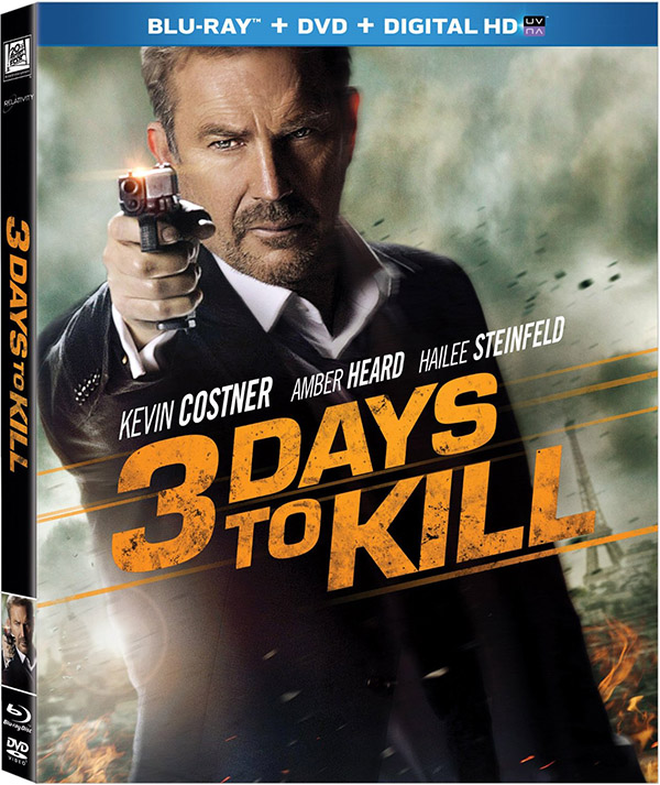 '3 Days to Kill' and other Blu-ray, DVD, and Digital releases this week