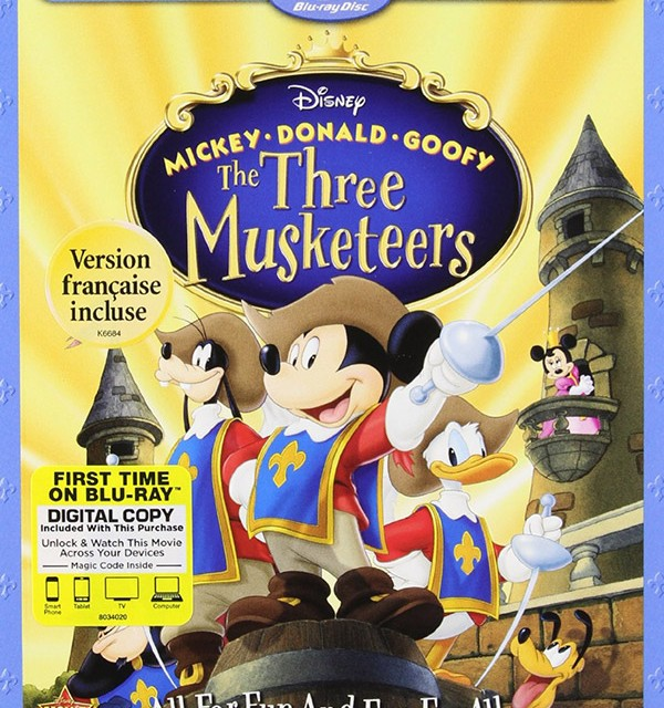 Mickey Donald Goofy Three Musketeers 10th Anniversary Blu-ray Digital HD