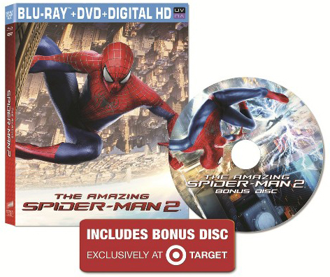 The Amazing Spider-Man 2 Blu-ray Target Exclusive Bonus Disc