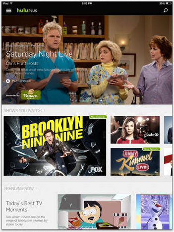 Hulu Plus app redesigned for iPad & iPhone, optimized for iOS8