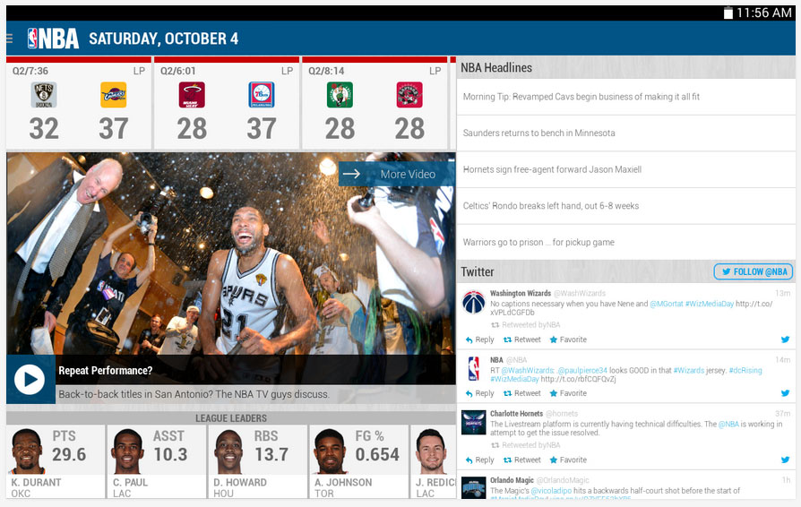 NBA Game Time app updated for 2014-2105 season