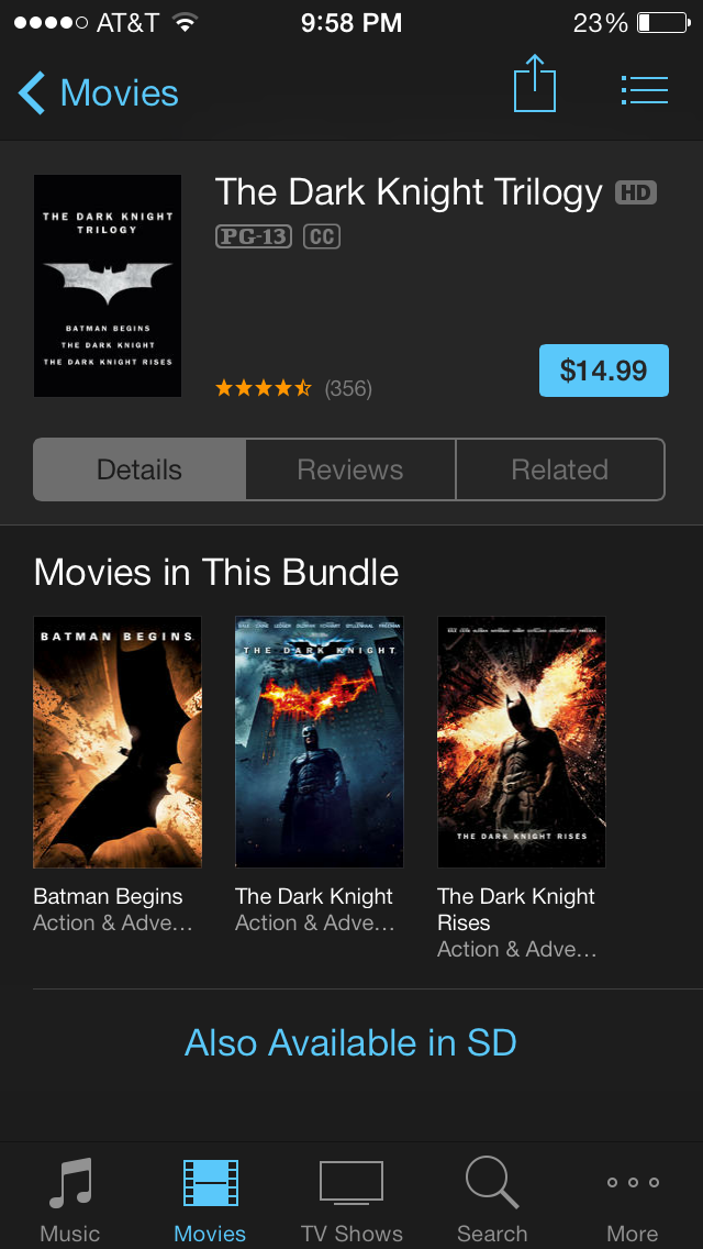 The Dark Knight Trilogy iPhone