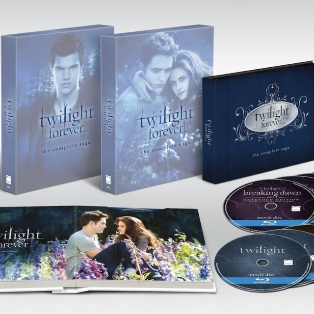 Twilight Forever The Complete Saga Box Set Back Open