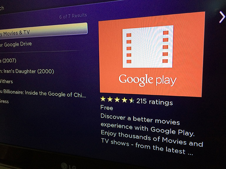 Google Play added to Roku, 'X-Men' offered upon activation