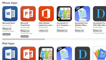 Microsoft Office apps now free on iPad and iPhone