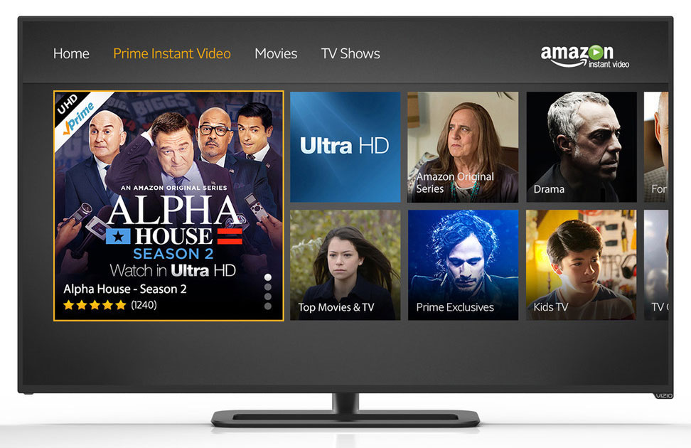 Vizio Ultra HD TVs to support Amazon 4k video