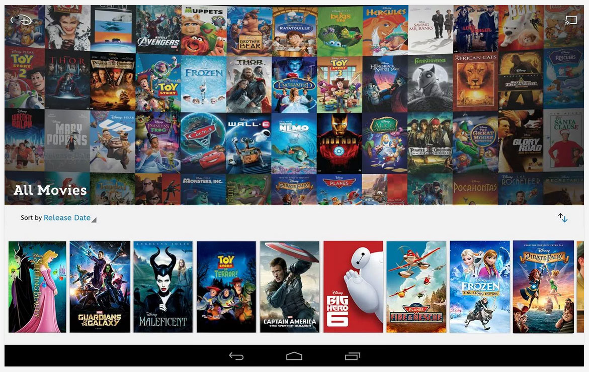 Disney Movies Anywhere app adds Google voice search