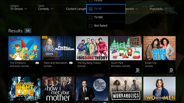 PlayStation Vue screen1