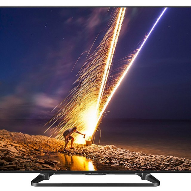 Sharp LC-70LE660 70-Inch Aquos 1080p 120Hz Smart LED TV front view