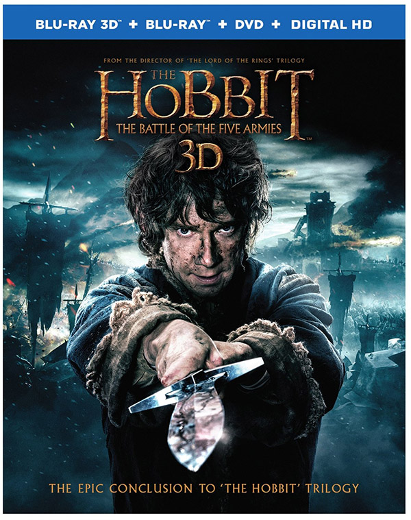 The Hobbit The Battle of the Five Armies Blu-ray 3D SlipCover Front
