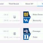 NCAA Men's Basketball Elite 8 Schedule & Streaming Info