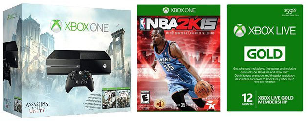 Xbox-One-Assassins-Creed-Bundle-12-Month-Gold-Card-NBA-2K15-horiz