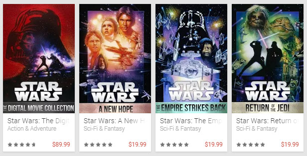 Star Wars: The Digital Movie Collection Pre-Order Prices ...